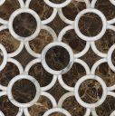Ann Sacks Natural Stone Mosaic montgomery 1 in calacatta tia and emperador dark