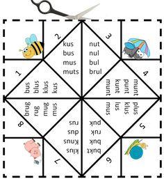 Vouwdobbelsteen met de letter u Digibord Onderbouw