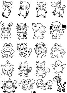 Baby Farm Animal Coloring Pages Coloring And Drawing Pinterest