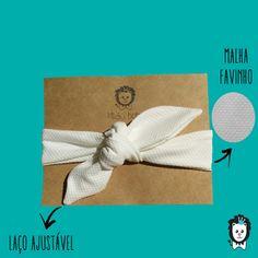 faixa turbante laço off white