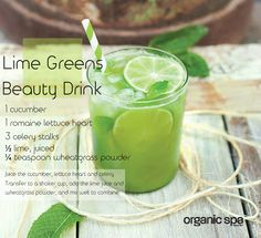 """It's always best to be gorgeous from the inside out"" says @greenjules 4 more drink recipes: http://ospa.me/1yJL6ii"
