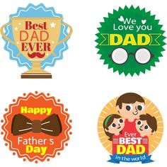 Happy Father Day Love Badges Collection