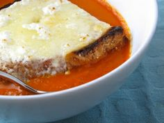 Tomato Soup With Broiled Goat Cheese Toast by Feastie