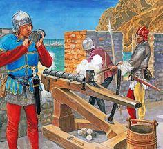 "Marek Szyszko: ""Italian gunners, XV century"""