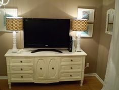 dresser entertainment center - Click image to find more Home Decor Pinterest pins