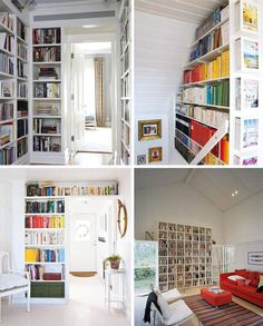 Ceiling Bookshelf ceiling bookshelfthis can't be terribly hard to do | nest