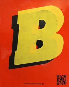 B-poster by BOB STUDIO , via Behance
