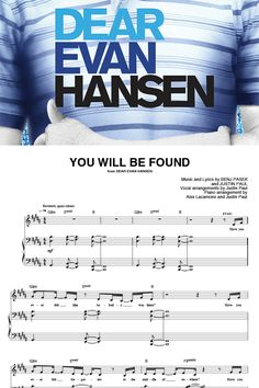 """Download the sheet music for ALL of """"Dear Evan Hansen."""" Only on Sheet Music Direct!  **Due to licensing restrictions, these titles are currently only available in the US."""