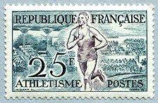 Athlétisme Jeux Olympiques d´Helsinki 1952 - Timbre de 1953