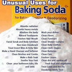 Baking Soda, or Sodium Bicarbonate, is a staple in homes for baking and cleaning purposes. Are you taking full advantage of all that baking soda has to offer? Baking Soda is a natural chemical compound. Household Cleaning Tips, Cleaning Recipes, House Cleaning Tips, Cleaning Hacks, Cleaning Agent, Household Products, Cleaning Checklist, Spring Cleaning, Cleaning Vinegar