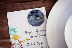lovely watercolor menu cards (or could be used for invitations)
