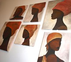 african abstract paintings by Laura Minimalia