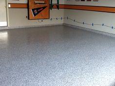 Harley themed garage with a polyurea garge floor coating! Garage Floor Coatings, Tile Floor, Concrete, Flooring, Baby, Tile Flooring, Wood Flooring, Baby Humor, Infant