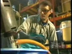 """Graphic & campy safety training film. Watch as people get injured while working in factories, driving cars and operating dangerous machinery! 'It Only Takes a Second"""" Industrial Safety Vid - SUPER FUNNY!"""