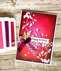 Color Blending, Happy Colors, Happy Birthday Cards, Color Pallets, Emboss, Card Stock, Stampin Up, Gift Wrapping, Colours