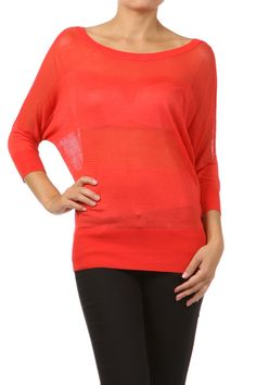 Coral knit top!! Adore OceanAvenueBoutique.com #freeshipping