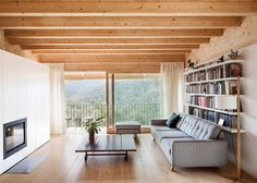 Cantilevered timber house by Alventosa Morell Arquitectes