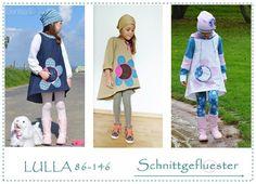 EBOOK Lulla 86-146 Kleid Vokuhila Blumentasche von SCHNITTGEFLÜSTER auf DaWanda.com