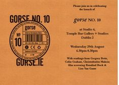 gorse no. University College Dublin, University Of Toronto, Poetry Collection, Memoirs, Short Stories, Literature, Comic Books, Product Launch, Rsvp