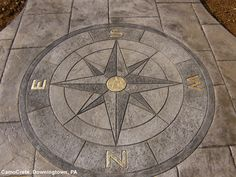 The Compass Medallion (MD7401) was used by CamoCrete, Downingtown, PA. Real gold leaf was used in the letters. The Compass set this work apart and made a real statement.
