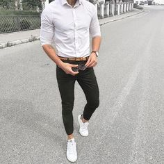 Black & White Outfit For Men Street Style Inspiration. #mens #fashion #style