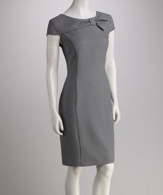 Black Bow Cap-Sleeve Dress. Love that pattern!!!