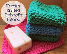 kiss me awake: prettier (but still super easy) knitted dishcloth tutorial