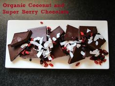 Healthy Organic Coconut and Super Berry Chocolate recipe | Thermomix
