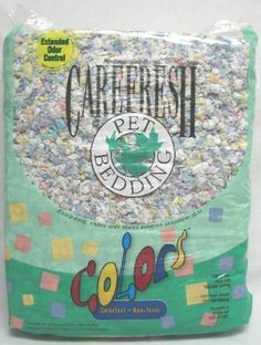 $25.40-$32.99 Care Fresh Care Fresh Bedding - Confetti - Provide your small pet with colorful, Earth-friendly bedding. Carefresh Confetti bedding is made with reclaimed wood pulp paste that cannot be made into paper, colored with non-toxic, colorfast dyes to add a little pizzazz to your pet's enclosure. No pine or cedar oils. Perfect for your rabbit, guinea pig, gerbil, hamster, rats, and other s ...