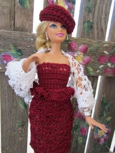 crochet Barbie clothes - use as