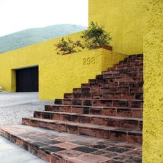 """Luis Barragán, Yellow house in Monterrey, Mexico"""