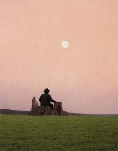 Quint Buchholz | Mann auf einer Wiese (Man on a Meadow), 1990