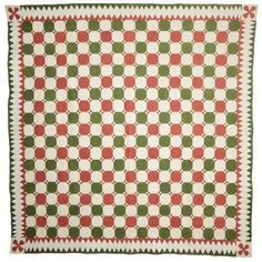 "Octagons Quilt, Shenandoah Valley, c. 1870, 84"" square, Stella Rubin, 1st dibs"