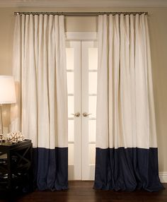 Luxury Bordered Linen + Linen Custom Drapery on Sale | DrapeStyle | 800-760-8257