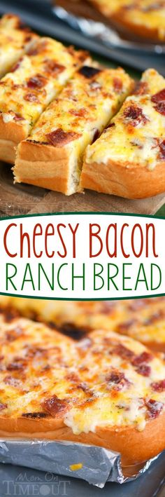 I've put all your favorites together in this fantastic and easy Cheesy Bacon Ranch Bread! Make it in the oven or on grill - it's your choice! A tasty addition to game day or any meal!                                                                                                                                                                                 More