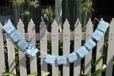 Tiffany Just Married Bunting....by Lily and Lace....