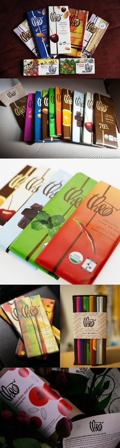 THEO Chocolate: organic and fair trade? No wonder it tastes so good. #chocolate #packaging for more information visit us at www.coffeebags.co.za