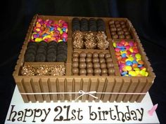 perfect for the candy holic. Great cake