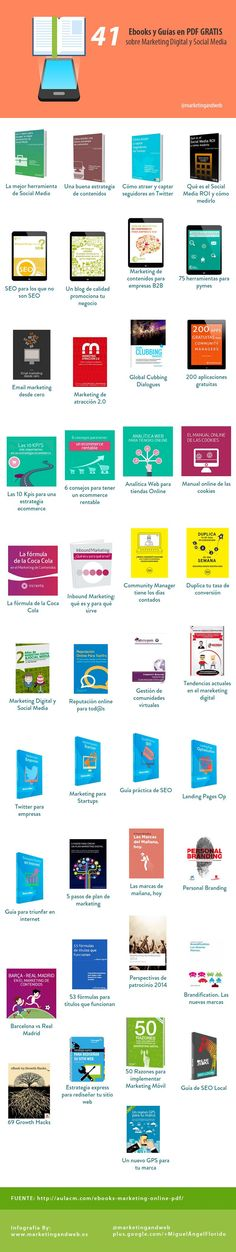 ebooks gratis marketing digital social media infografia #arteparaempresa #Marketing #motivación ☎