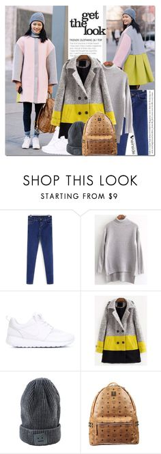 """New York Fashion Week Street Style"" by never-alone ❤ liked on Polyvore featuring NIKE, MCM, Sheinside and shein"