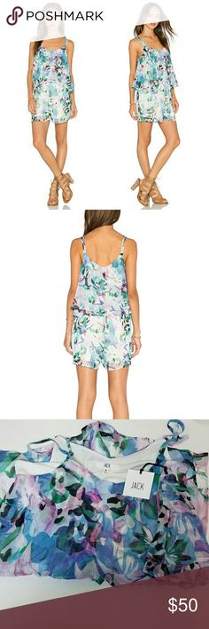JACK by BB Dakota Aerona Romper This NWT romper from JACK by BB Dakota is the perfect summer addition. It comes in a multicolor print and has double traps. It has a bodice overlay and an elasticized waist.  It is also lined, so no worrying about under garments showing through! This piece screams hot summer days! Jack by BB Dakota Dresses