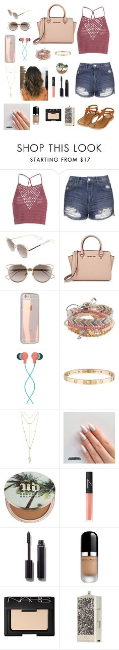 Mall by gabriellaallen on Polyvore featuring Glamorous, Topshop, Michael Kors, Aéropostale, Cartier, House of Harlow 1960, Christian Dior, The House of Marley, NARS Cosmetics and Chanel