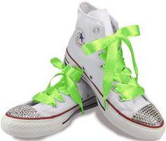 93e86f015f2213 Neon green Satin Ribbon Laces for Converse! £.3.50 - £4.50 Green Satin