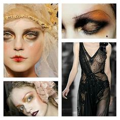 Pat Mcgrath is probably the best high fashion make up artist ever #johngalliano #patmcgrath #fashionshow #theatricalmakeup #makeupartist #dress #blackdress #ombrelips #glitter #stylist #fashiondesigner #eyemakeup #eyebrows #highfashion #models