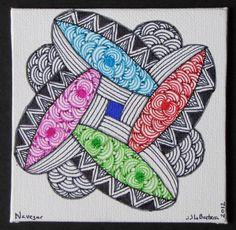 Navegar Zendala - Original Zentangle Inspired Mandala. $20.00, via Etsy.