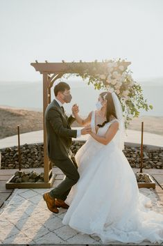 Bride and groom mask style dance in front of Fall white wedding day decor and floral altar | Washington Elopement, Destination Elopement Photographer, Cave B Inn Elopement Inspiration, Washington Elopement ideas, PNW Fall Wedding Inspiration, Fall Outdoor Wedding Ideas,Fall Wedding Inspiration, PNW Outdoor Wedding Ideas | chelseaabril.com Wedding Day Inspiration, Elopement Inspiration, Elopement Ideas, Wedding Ideas, Magical Wedding, Boho Wedding, Fall Wedding, Hawaii Wedding, Newlyweds
