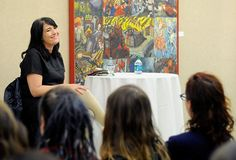 Kathleen Hanna (Bikini Kill, Le Tigre) talking at Colombia College for Women's History Month