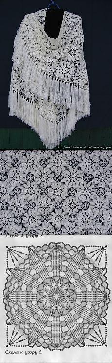 Flower motif crochet