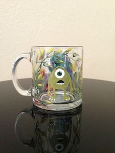 hand-painted mug (monsters) painted by Helen krupenina