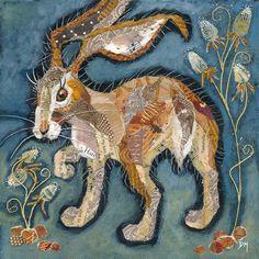 Hare collage by Dawn Macionia